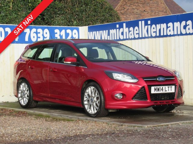USED 2014 14 FORD FOCUS 1.6 ZETEC S TDCI 5d 113 BHP VERY CLEAN CAR