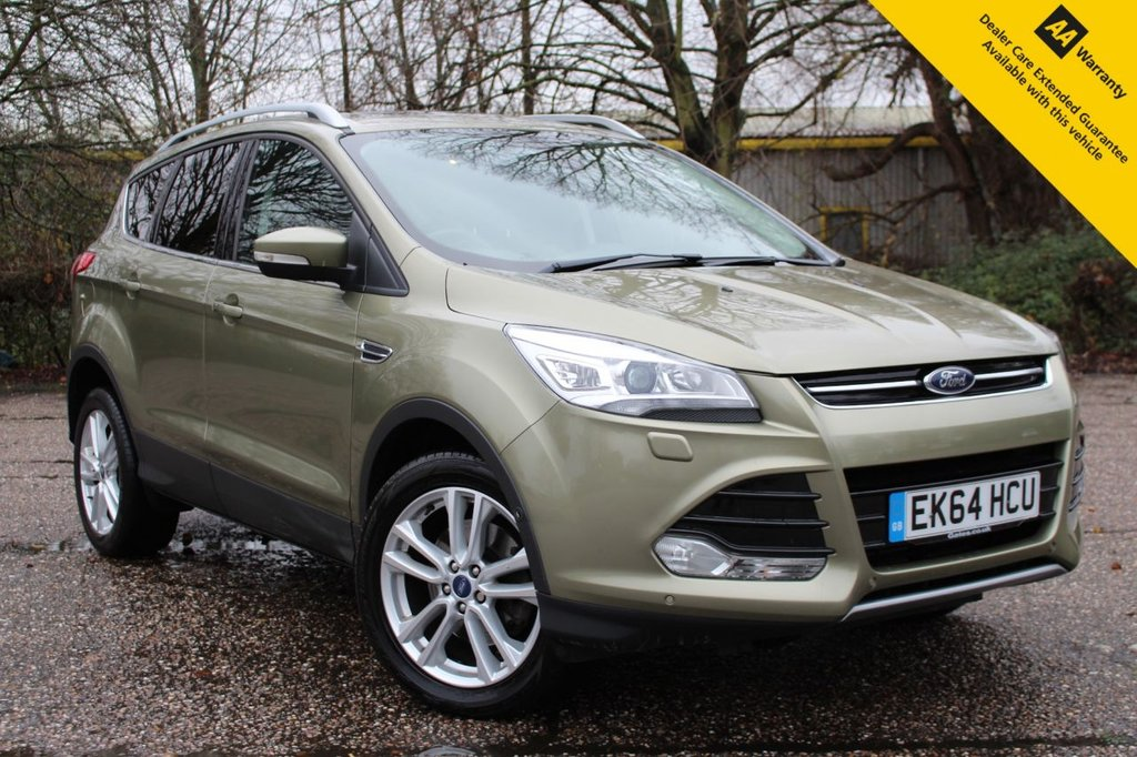 USED 2014 64 FORD KUGA 2.0 TITANIUM X TDCI 5d 160 BHP ** FULL SERVICE HISTORY ** BRAND NEW SERVICE ** LONG ADVISORY FREE MOT - NOV 2021 ** FACTORY UPGRADED APPEARANCE PACK + CONVENIENCE PACK ** POWER TAILGATE ** PANORAMIC OPENING GLASS SUNROOF ** LEATHER INTERIOR ** HEATED FRONT SEATS ** ELECTRIC DRIVERS SEAT ** CRUISE CONTROL ** BLUETOOTH ** CLIMATE CONTROL ** AUTO LIGHTS + WIPERS ** LOW RATE £0 DEPOSIT FINANCE AVAILABLE ** NATIONWIDE DELIVERY AVAILABLE ** BUILD YOUR PERSONALISED DEAL TODAY ON OUR WEBSITE **