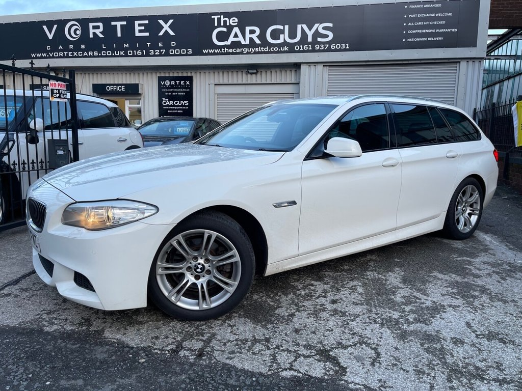 USED 2012 62 BMW 5 SERIES 2.0 520D M SPORT TOURING 5d 181 BHP SAT-NAV + HEATED LEATHER + S/H