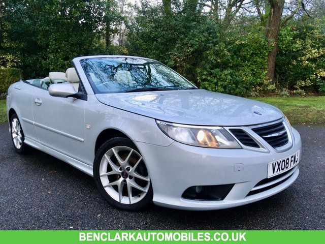 2008 08 SAAB 9-3 2.0 T VECTOR 2d 175 BHP FULL CREAM HEATED LEATHER/ONLY 73,000 MILES/ FULL SAAB/SPECIALIST SERVICE HISTORY X13 STAMPS/REAR PARK ASSIST