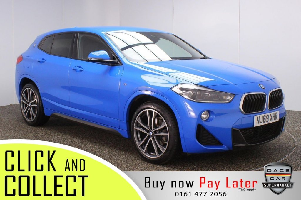 USED 2019 69 BMW X2 1.5 SDRIVE18I M SPORT 5DR 1 OWNER 139 BHP + SAT NAV + HEATED LEATHER + LOW MILES HEATED LEATHER SEATS + SATELLITE NAVIGATION + PARKING SENSOR + BLUETOOTH + CRUISE CONTROL + CLIMATE CONTROL + MULTI FUNCTION WHEEL + LED HEADLIGHTS + PRIVACY GLASS + DAB RADIO + USB PORT + ELECTRIC WINDOWS + ELECTRIC DOOR MIRRORS + 19 INCH ALLOY WHEELS