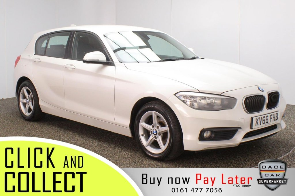 USED 2016 66 BMW 1 SERIES 1.5 116D SE 5DR 1 OWNER 114 BHP FULL BMW SERVICE HISTORY + FREE 12 MONTHS ROAD TAX + SATELLITE NAVIGATION + BLUETOOTH + MULTI FUNCTION WHEEL + AIR CONDITIONING + DAB RADIO + AUX/USB PORTS + ELECTRIC WINDOWS + ELECTRIC MIRRORS + 16 INCH ALLOY WHEELS