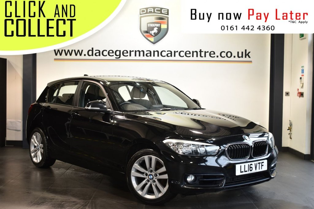USED 2016 16 BMW 1 SERIES 2.0 118D SPORT 5DR 147 BHP Finished in a stunning black styled with alloy wheels. Upon entry you are presented with anthracite upholstery, full service history, satellite navigation, bluetooth, DAB radio, sport seats, multi function steering wheel, rain sensors, fog lights, teleservices