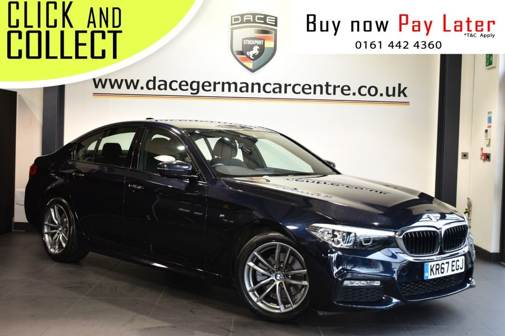 USED 2017 67 BMW 5 SERIES 2.0 520D M SPORT 4DR AUTO 188 BHP Finished in a stunning Carbon metallic black styled with M sport alloy wheels. Upon entry you are presented with full black leather interior, full service history, pro satellite navigation, bluetooth, DAB radio, M sport package, heated sport seats, M sport suspension, multi function steering wheel, teleservices, rain sensors, Sensatec instrument panel, anthracite headlining, electric door mirrors
