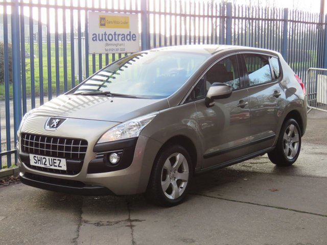 USED 2012 12 PEUGEOT 3008 1.6 ACTIVE HDI FAP 5d 112 BHP Diesel,Alloys,Parking Sensors,Air Conditioning,History