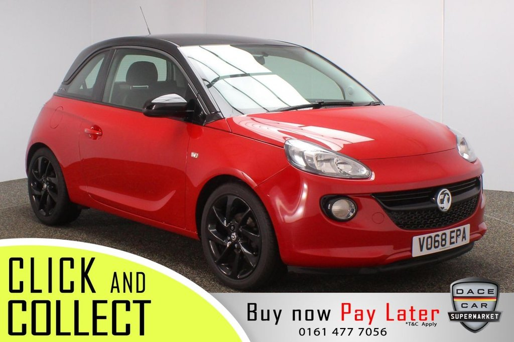 USED 2018 68 VAUXHALL ADAM 1.2 ENERGISED 3DR 1 OWNER 69 BHP FULL SERVICE HISTORY + BLUETOOTH + CRUISE CONTROL + MULTI FUNCTION WHEEL + AIR CONDITIONING + DAB RADIO + AUX/USB PORTS + ELECTRIC WINDOWS + ELECTRIC DOOR MIRRORS + 17 INCH ALLOY WHEELS