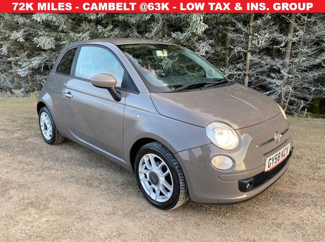 USED 2008 58 FIAT 500 1.2 SPORT 3d 69 BHP ONLY 72K MILES -- CAMBELT/PUMP @63K IN 2018 -- LOW TAX & INSURANCE GROUP
