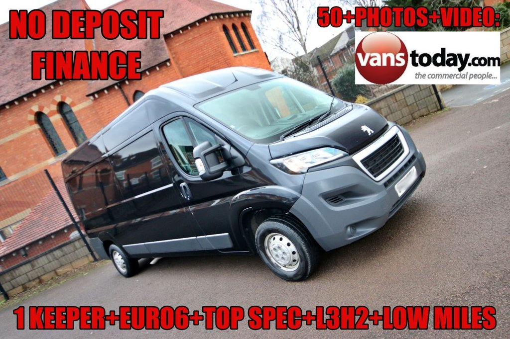 USED 2016 66 PEUGEOT BOXER 2.0 BLUE HDI 335 L3H2 PROFESSIONAL P/V 130 BHP + EURO 6 + TOP SPEC NO DEPOSIT FINANCE + 1 KEEPER + EURO 6 + TOP SPEC