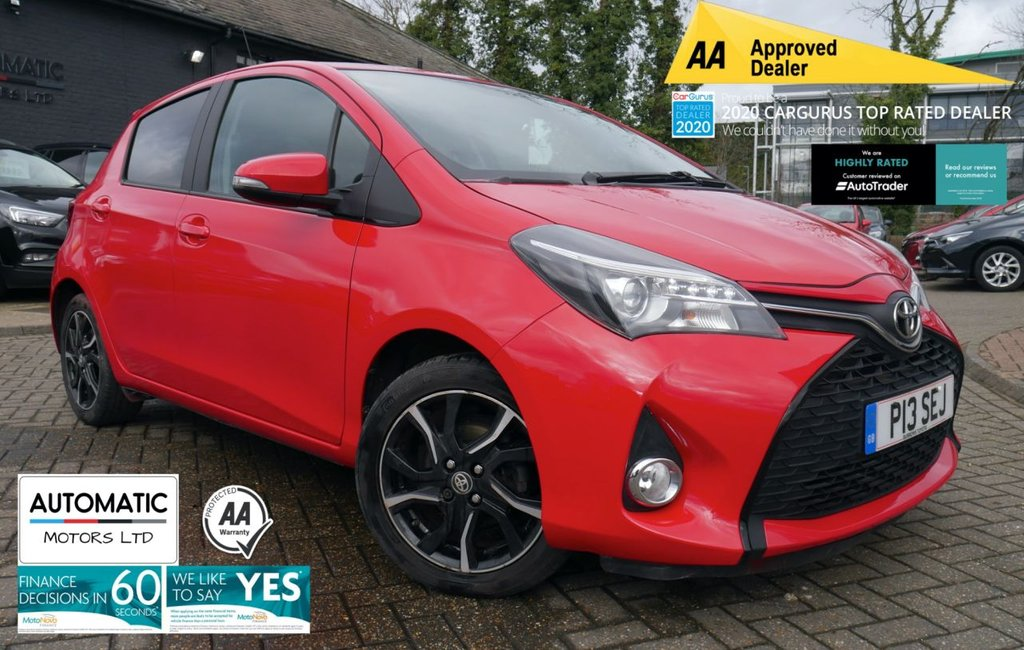 USED 2015 P TOYOTA YARIS 1.3 VVT-I SPORT 5d 99 BHP 2013 TOYOTA YARIS 1 OWNER FROM NEW FRESH MOT FRESH SERVICE,AUX/USB, REVERSE CAMERA