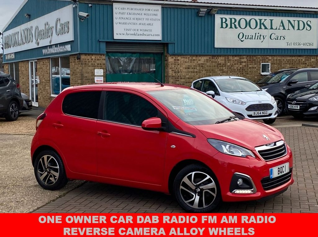 USED 2017 17 PEUGEOT 108 1.2 PURETECH ALLURE 5 Door Laser Red 37790 miles 82 BHP One Owner  One Owner Car Dab Radio Fm Am Radio Reverse Camera Alloy Wheels Give Us A Call 01536 402161