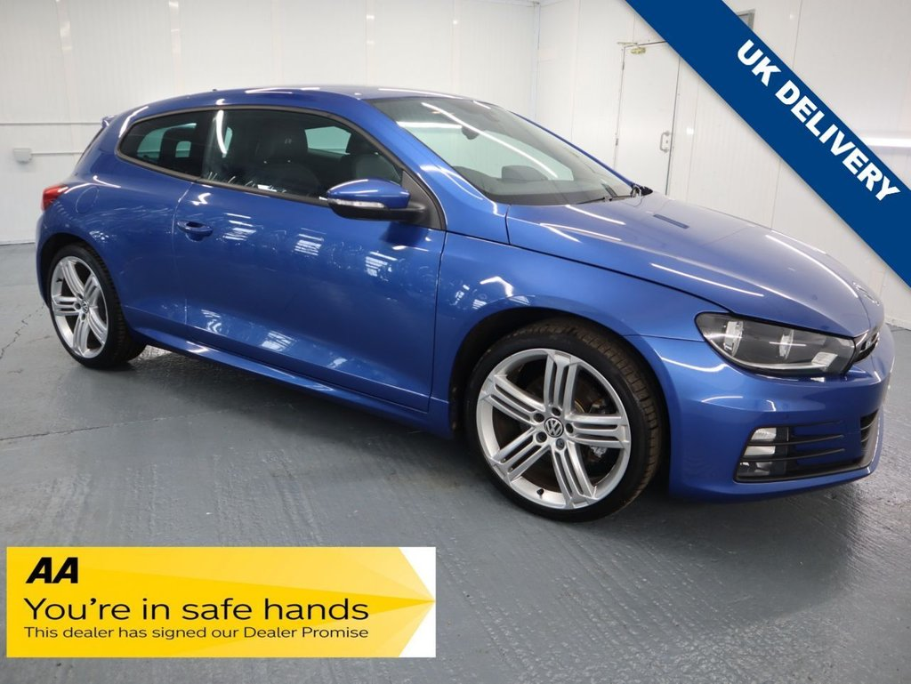 USED 2017 17 VOLKSWAGEN SCIROCCO 2.0 R LINE TSI BLUEMOTION TECHNOLOGY 2d 178 BHP WITH FOUR USABLE SEATS AND A DECENT BOOT THIS SCIROCCO HAS THE 178 BHP PETROL 2 LTR ENGINE WITH A MANUAL GEARBOX.
