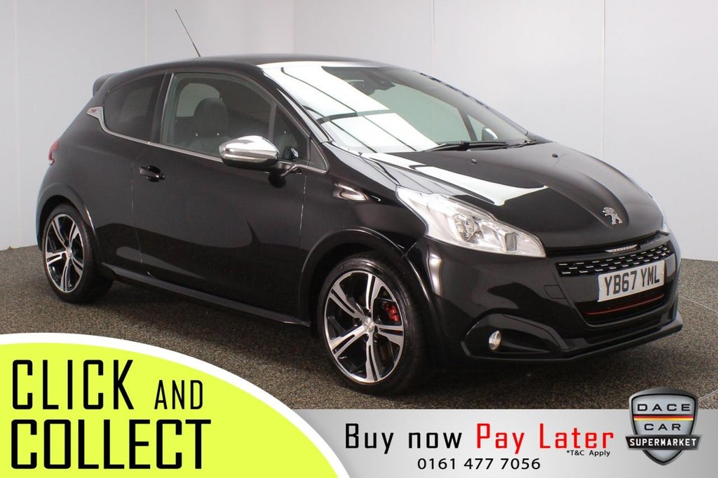 USED 2017 67 PEUGEOT 208 1.6 THP GTI PRESTIGE 3DR 208 BHP SERVICE HISTORY + HEATED HALF LEATHER SEATS + SATELLITE NAVIGATION + PANORAMIC ROOF + PARKING SENSOR + BLUETOOTH + CRUISE CONTROL + CLIMATE CONTROL + MULTI FUNCTION WHEEL + XENON HEADLIGHTS + PRIVACY GLASS + DAB RADIO + AUX/USB PORTS + ELECTRIC WINDOWS + ELECTRIC/HEATED/FOLDING DOOR MIRRORS + 17 INCH ALLOY WHEELS