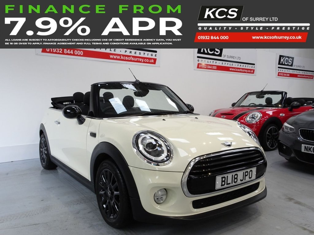 "USED 2018 18 MINI CONVERTIBLE 1.5 COOPER 2d 134 BHP PEPPER PACK - 16"" BLACK ALLOYS"