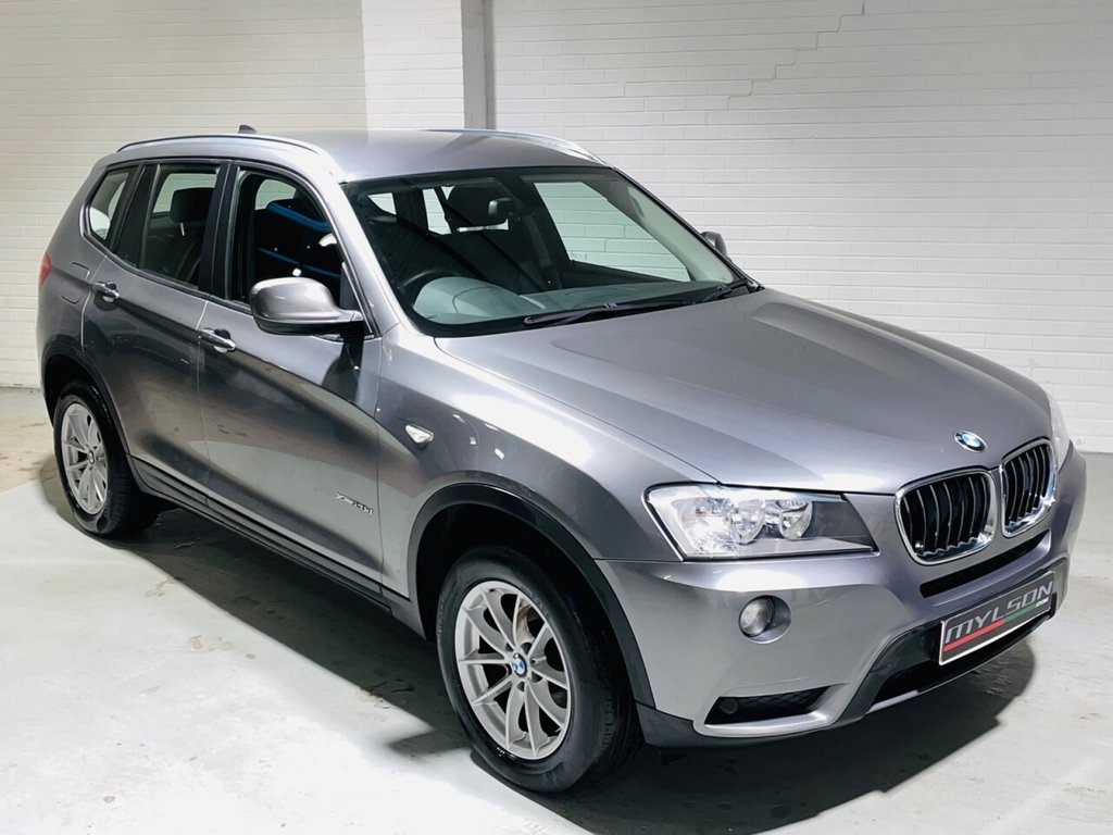 USED 2012 62 BMW X3 2.0 XDRIVE20D SE 5d 181 BHP Manual Xdrive Model, Space Grey with Black Leather interior