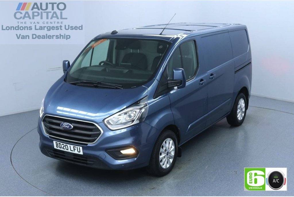 USED 2020 20 FORD TRANSIT CUSTOM 2.0 300 Limited EcoBlue 130 BHP L1 H1 Euro 6 Low Emission Apple CarPlay | AppLink | Voice Control  | Front and rear parking distance sensors