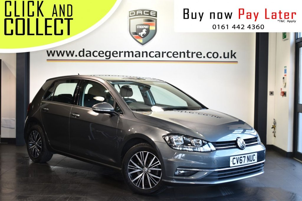 USED 2017 67 VOLKSWAGEN GOLF 1.6 SE NAVIGATION TDI BLUEMOTION TECHNOLOGY DSG 5DR AUTO 114 BHP Finished in a stunning metallic grey styled with alloy wheels. Upon entry you are presenetd with anthracite upholstery, full service history, satellite navigation, bluetooth, cruise control, parking sensors, UAX/USB media, large touchscreen interface, multi function steering wheel, rain sensors, fog lights