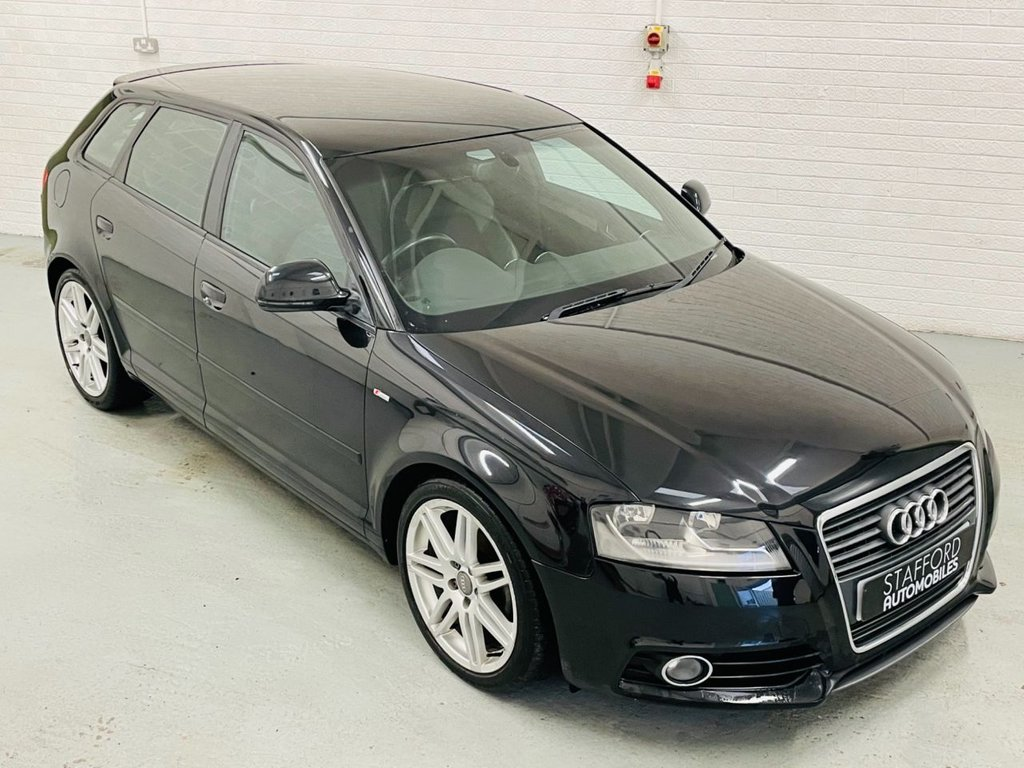 USED 2010 10 AUDI A3 1.6 TDI S LINE 5d 103 BHP £20 TAX, 18IN ALLOYS, HALF LEATHER, FINANCE AVAILABLE