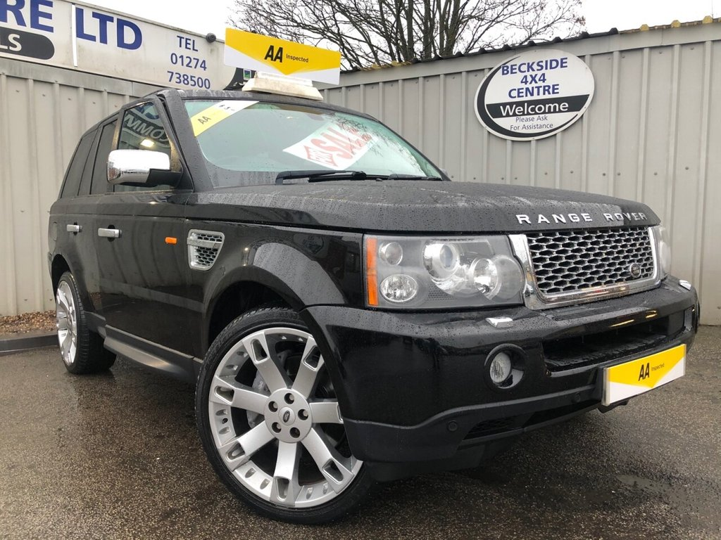 USED 2008 08 LAND ROVER RANGE ROVER SPORT 3.6 TDV8 SPORT HSE 5d 269 BHP AA INSPECTED. FINANCE. WARRANTY. LOW MILEAGE. MANY EXTRAS