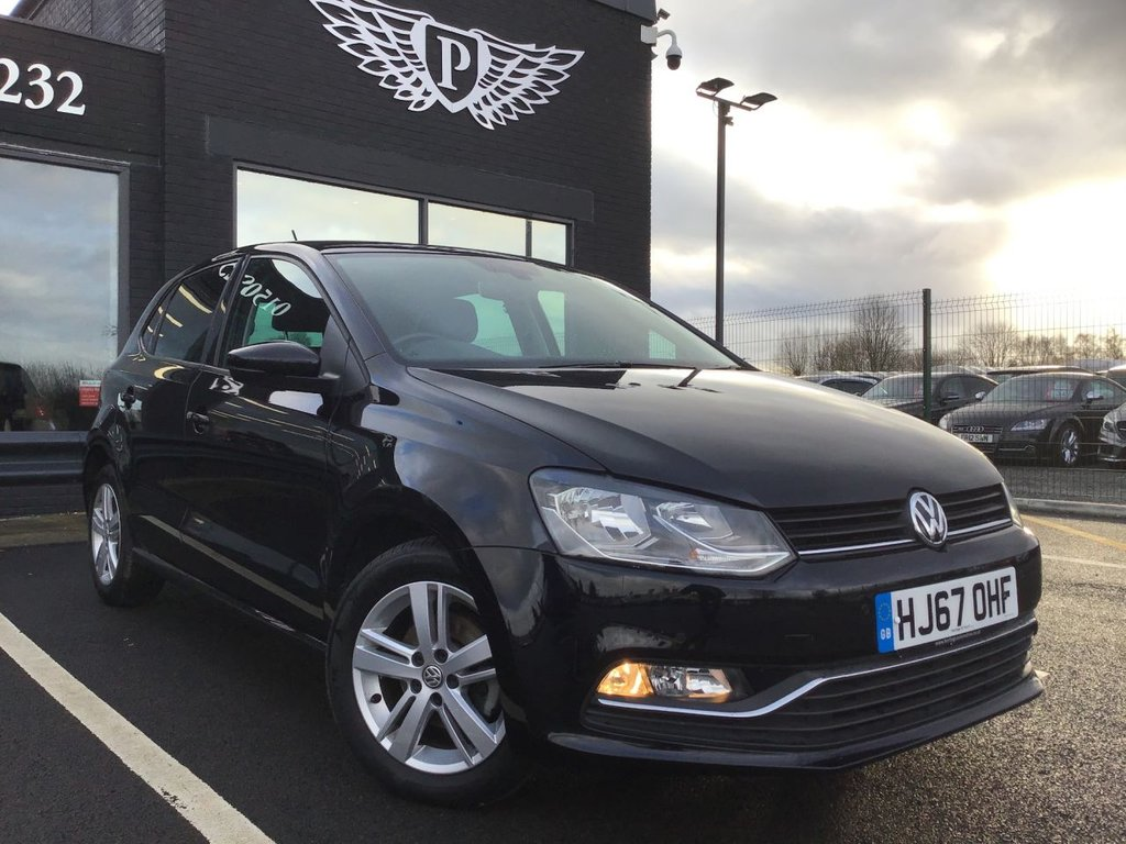 USED 2017 67 VOLKSWAGEN POLO 1.0 MATCH EDITION 5d 74 BHP WARRANTY,  MOT AND SERVICE INC