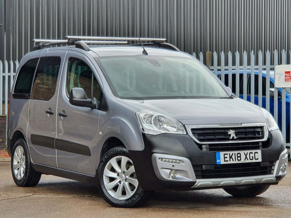 USED 2018 18 PEUGEOT PARTNER 1.6 BLUE HDI S/S TEPEE OUTDOOR 5d 100 BHP AIRCON|**NO VAT**|5 SEATS|DAB