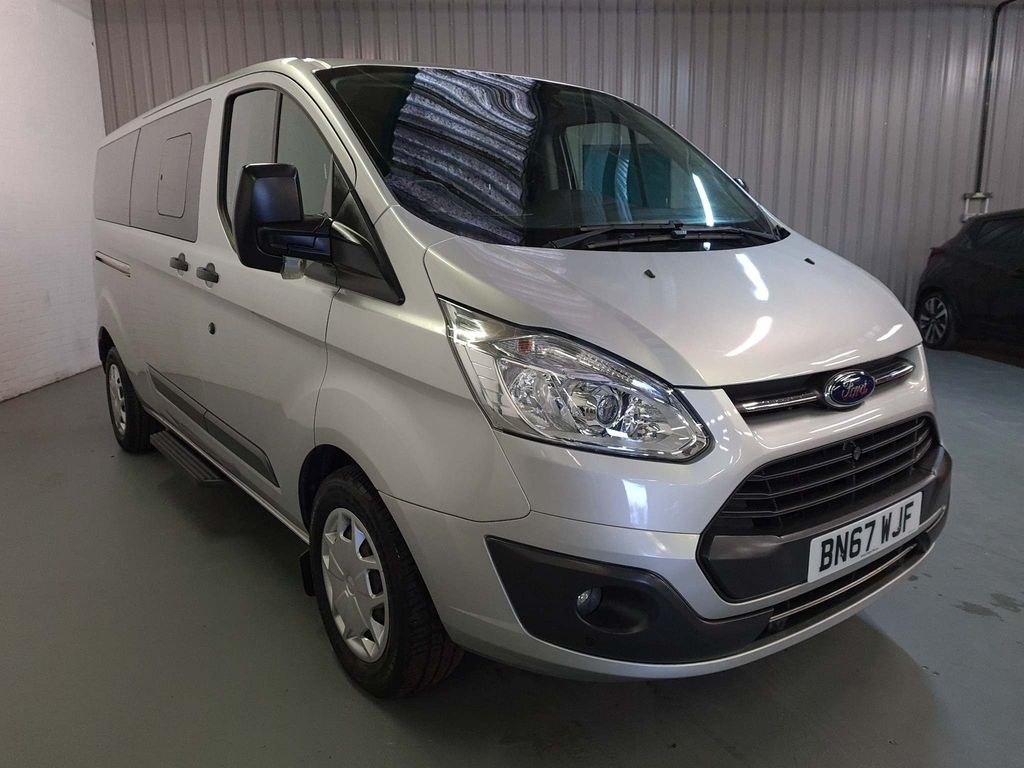 USED 2017 67 FORD TOURNEO CUSTOM 2.0 310 ZETEC TDCI 5d 129 BHP AIRCON HEATED SEATS 9 SEATER