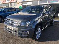 USED 2018 67 VOLKSWAGEN AMAROK 3.0 DC V6 TDI HIGHLINE 4MOTION 4d 5 Seat Family Lifestyle Double Cab Pickup AUTO with Rear Canopy and Towbar plus Massive High Spec. Recent Service & MOT with 4 New Tyres Ready to Finance and Drive Away A POWERFUL PICK-UP WITH A V6 ENGINE AND ONE FORMER OWNER
