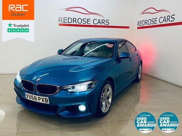 USED 2018 68 BMW 4 SERIES 2.0 420D M SPORT GRAN COUPE 4d 188 BHP FULL BMW SRVC, 2 KEYS, 1 OWNER