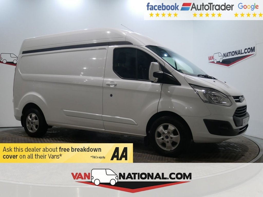 USED 2017 67 FORD TRANSIT CUSTOM 2.0 290 LIMITED LR P/V 130 BHP L2 H2 HIGH ROOF LIMITED *AIR CON*EURO 6* * ONE OWNER * EURO 6 * L2 H2 * ZERO DEPOSIT FINANCE AVAILABLE *