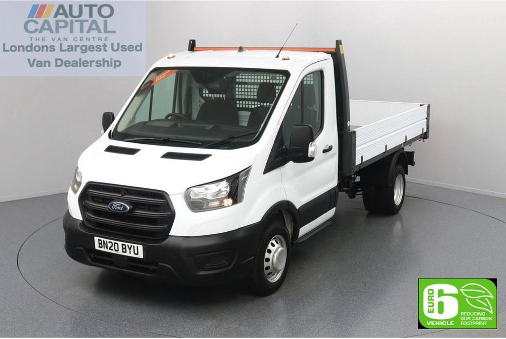 USED 2020 20 FORD TRANSIT 2.0 350 RWD EcoBlue Leader L2 MWB 130 BHP Low Emission Tipper Eco mode | Auto Start-Stop | Twin wheels | RWD | Rear tow fitted