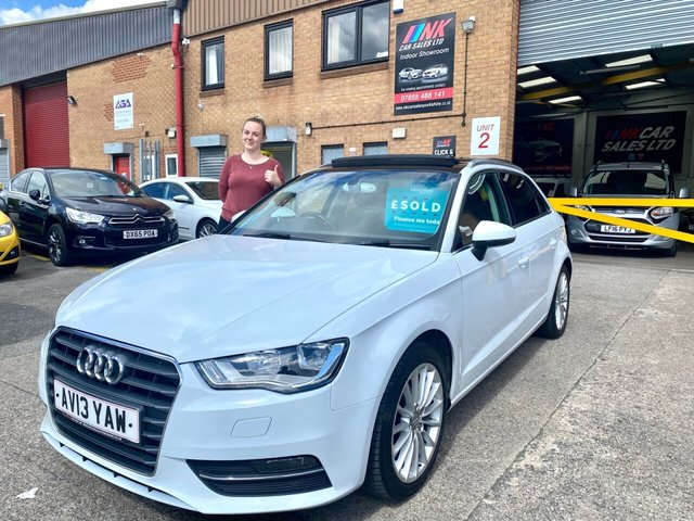 2013 13 AUDI A3 2.0 TDI SPORT 5d 148 BHP RARE PAN ROOF MODEL SOLD TO KEELEY FROM LEEDS