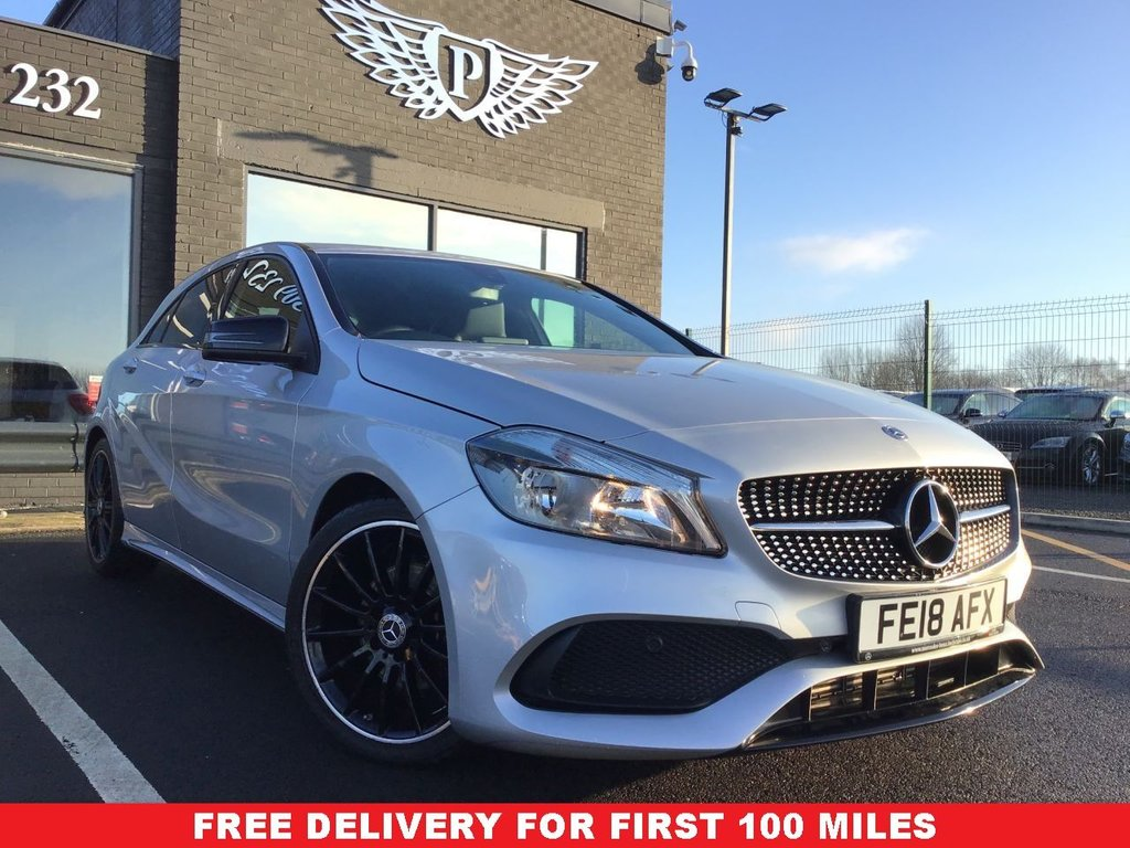 USED 2018 18 MERCEDES-BENZ A-CLASS 1.6 A 180 AMG LINE 5d 121 BHP FULL VALET, MOT, SERVICE AND WARRANTY INC - 7 DAYS MONEY BACK GUARANTEE - FREE DELIVERY - FINANCE RATES FROM 5.9%*