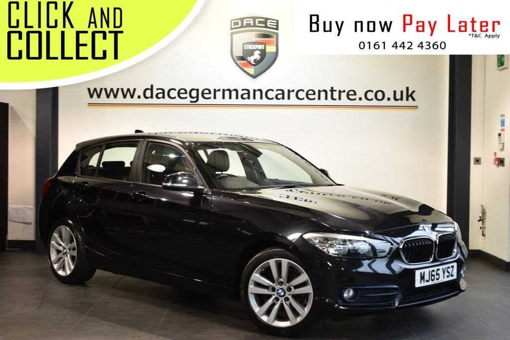 USED 2015 65 BMW 1 SERIES 1.5 116D SPORT 5DR 114 BHP Finished in a stunning black metallic sapphire styled with alloy wheels. Upon entry you are presented with anthracite upholstery, full service history, bluetooth, DAB radio, cruise control, sport seats, parking sensors, teleservices, multi function steering wheel, fog lights