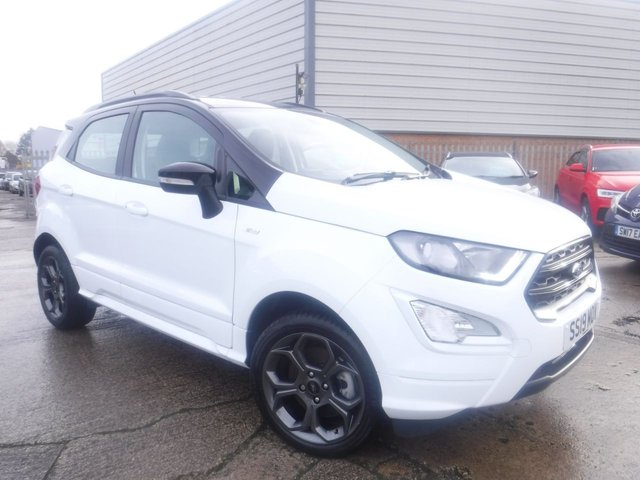USED 2019 19 FORD ECOSPORT 1.0 ST-LINE 5d 124 BHP *** FINANCE & PART EXCHANGE WELCOME *** 1 OWNER FROM NEW HALF LEATHER INTERIOR SAT/NAV REVERSE CAMERA BLUETOOTH PHONE DAB RADIO