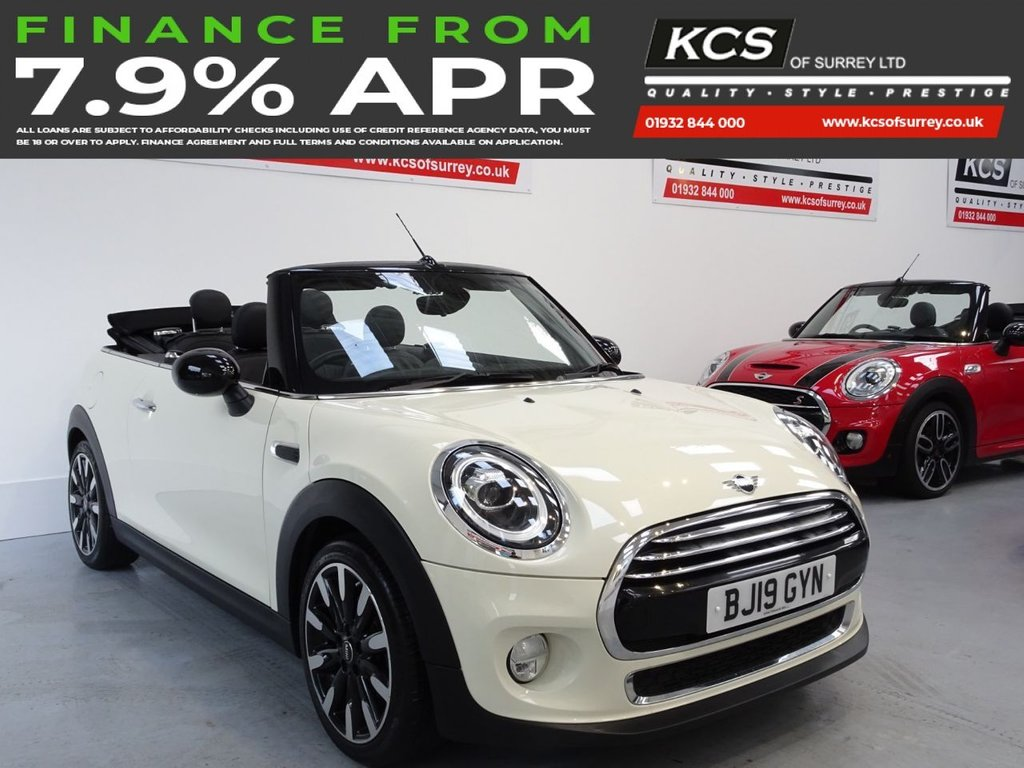 USED 2019 19 MINI CONVERTIBLE 1.5 COOPER EXCLUSIVE 2d 134 BHP LED LIGHTS - FULL LEATHER