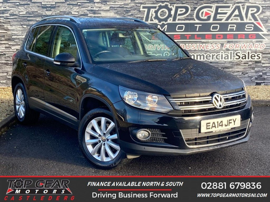 USED 2014 14 VOLKSWAGEN TIGUAN 2.0TDI 140BHP MATCH BLUEMOTION TECH 4MOTION DSG ** 4-WHEEL DRIVE, PARK ASSIST, FINANCE AVAILABLE ** OVER 90 VEHICLES IN STOCK