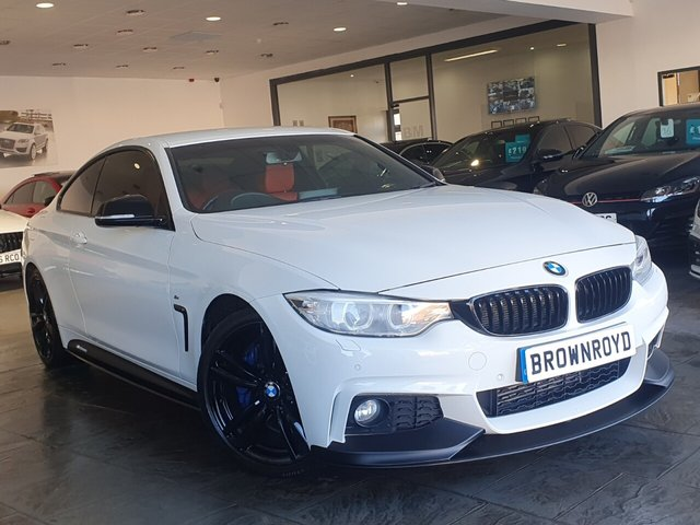 USED 2015 65 BMW 4 SERIES 3.0 430D M SPORT 2d 255 BHP BM PERFORMANCE STYLING+6.9%APR