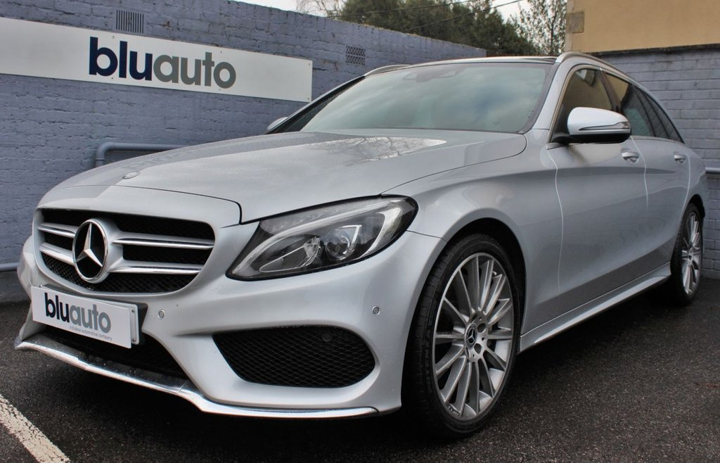 USED 2017 67 MERCEDES-BENZ C-CLASS 2.1 C 250 D AMG LINE PREMIUM 5d 204 BHP 1 Owner, Mercedes History, Pan Roof, Power Tailgate, Keyless Entry & Start, Rear Camera, Leather Heated Electric Memory Seats.