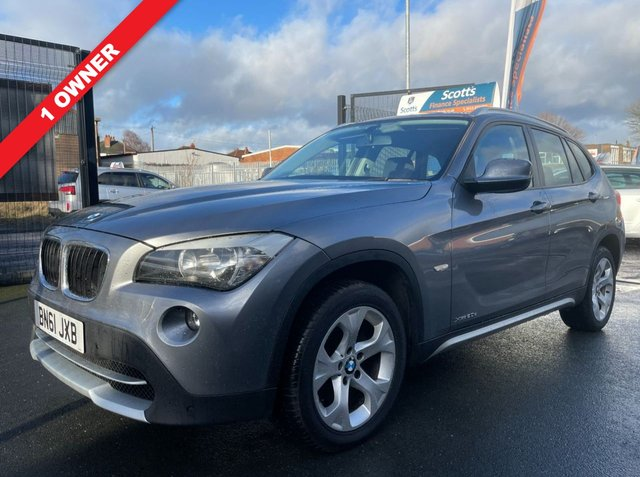 USED 2011 61 BMW X1 2.0 XDRIVE20D SE 5 DOOR DIESEL AUTOMATIC GREY 1 OWNER 4WD FSH