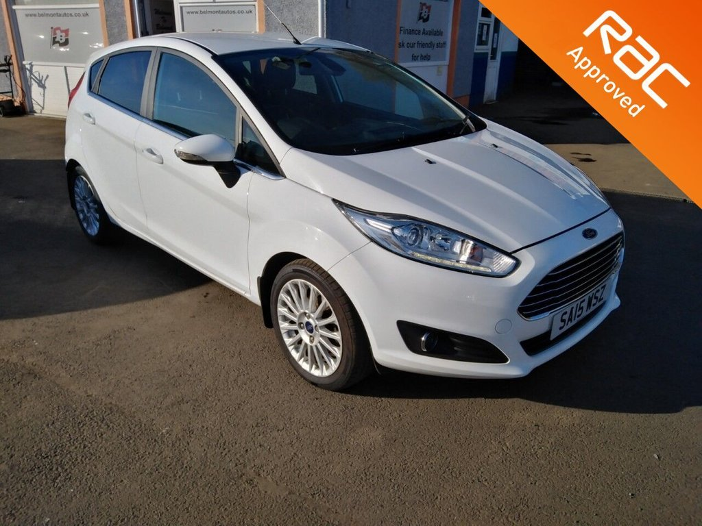 "USED 2015 15 FORD FIESTA 1.0 TITANIUM 5d 99 BHP 16"" Alloys, Bluetooth, Heated Windscreen, Ford Synch"