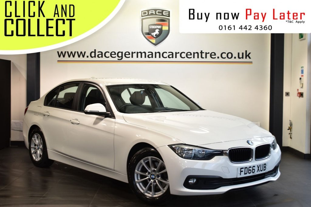 USED 2016 66 BMW 3 SERIES 2.0 320D ED PLUS 4DR AUTO 161 BHP Finished in a stunning alpine white styled with alloy wheels. Upon entry you are presented with full black leather interior, full service history, satellite navigation, bluetooth, cruise control, parking sensors, heated sport seats, AUX/USB media, DAB radio, lumbar support, multi function steering wheel.