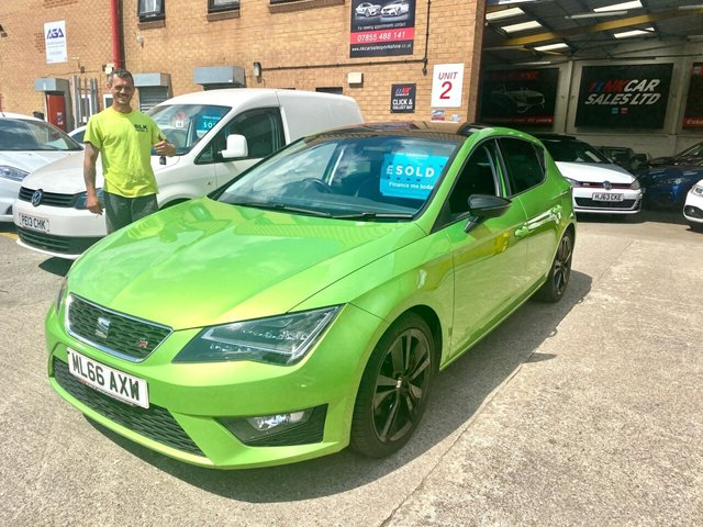 2016 66 SEAT LEON 2.0 TDI FR TECHNOLOGY 5d 184 BHP SOLD TO ANTHONY FROM LEEDS