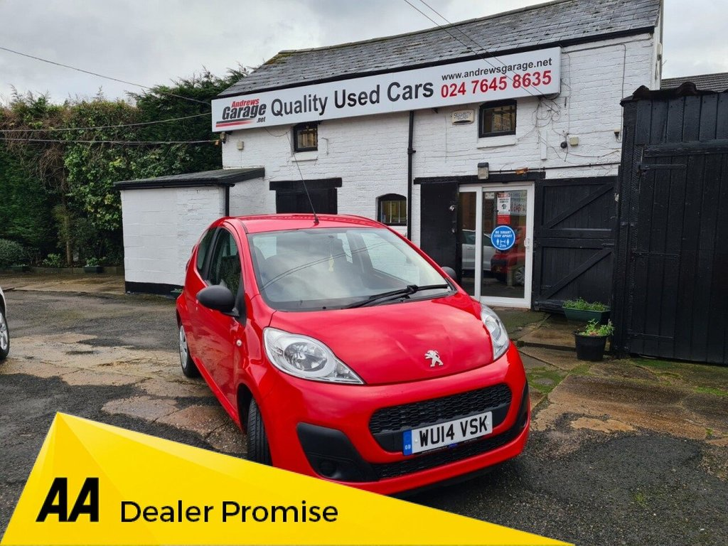 USED 2014 14 PEUGEOT 107 1.0 ACCESS 3d 68 BHP