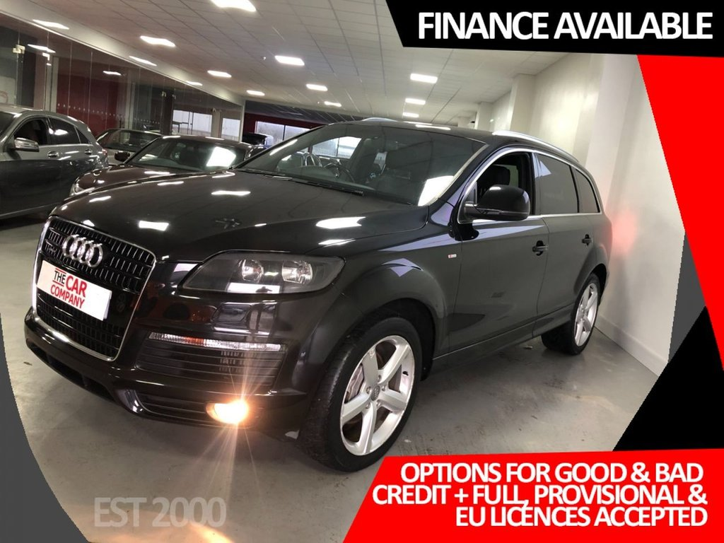 USED 2008 08 AUDI Q7 3.0 TDI QUATTRO S LINE 5d 240 BHP * NAV * HALF LEATHER * 7 SEATS * PARKING SENSORS *