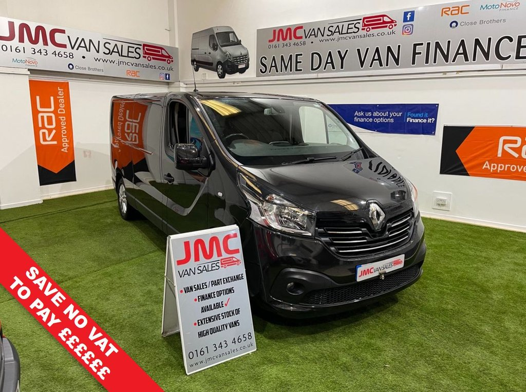 USED 2016 66 RENAULT TRAFIC 1.6 LL29 SPORT ENERGY DCI 125 BHP NO VAT TO PAY ON THIS VAN AIR CON SAT NAV LWB NO VAT TO PAY ON THIS TRAFIC SPORT