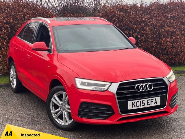 USED 2015 15 AUDI Q3 2.0 TDI QUATTRO S LINE 5d 148 BHP * 1 OWNER FROM NEW * LOW MILEAGE CAR * 12 MOMTHS FREE AA MEMBERSHIP *