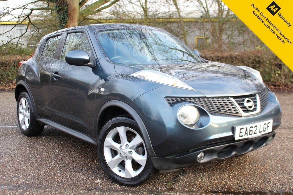 USED 2012 62 NISSAN JUKE 1.6 ACENTA 5d 117 BHP ** SUPERB FULL SERVICE HISTORY ** BRAND NEW MOT + SERVICE DONE JAN 2021 ** UPGRADED REAR PARKING AID ** CRUISE CONTROL ** BLUETOOTH ** CLIMATE CONTROL ** ULEZ CHARGE EXEMPT ** CLICK & COLLECT + NATIONWIDE DELIVERY AVAILABLE ** £0 DEPOSIT FINANCE AVAILABLE - 99% APPLICANTS ACCEPTED **