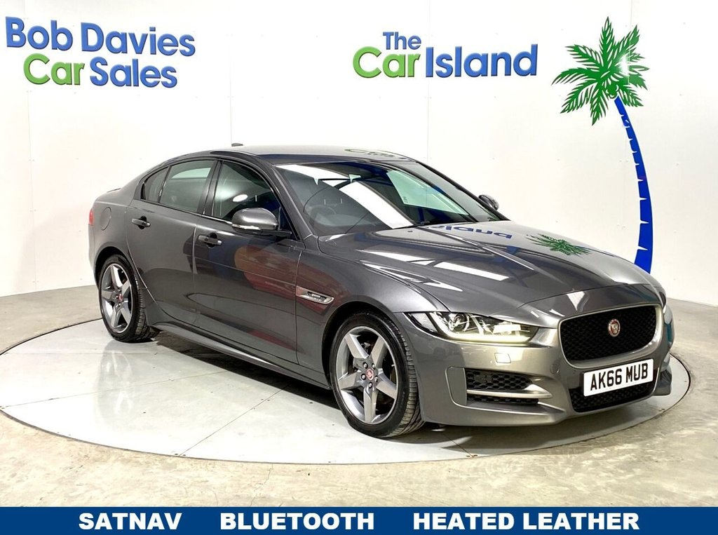 "USED 2016 66 JAGUAR XE 2.0 R-SPORT 4d 178 BHP Full Leather 18""Alloys, Park Sensors SATNAV 50000 miles"