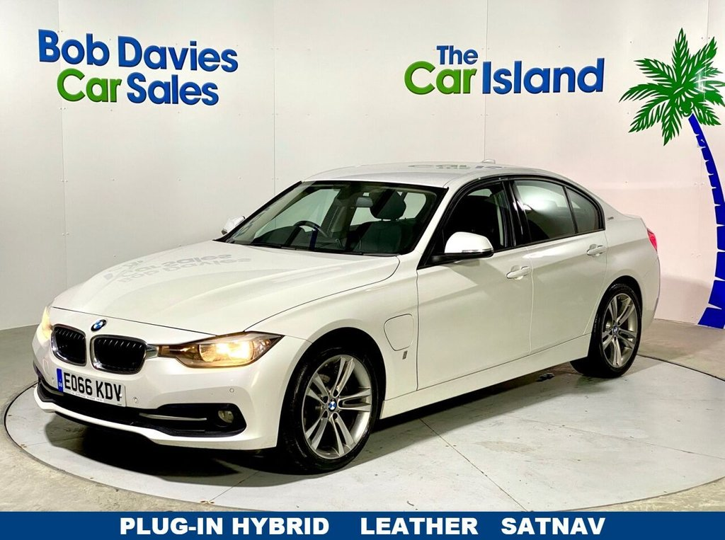 "USED 2016 66 BMW 3 SERIES 2.0 330E SPORT 4d 181 BHP Full Leather, SATNAV 18""Alloys Full HISTORY 63000 miles"