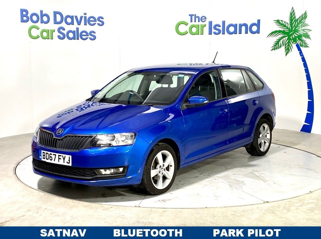 USED 2017 67 SKODA RAPID 1.0 SPACEBACK SE TECH TSI 5d 94 BHP SATNAV, Bluetooth, Parking Sensors, 39000 miles 1 Owner