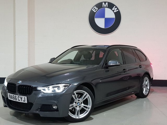 USED 2016 66 BMW 3 SERIES 2.0 320D M SPORT TOURING 5d 188 BHP 1 Owner/Leather Seats/Sat-Nav/Rear Park Sensors/Privacy